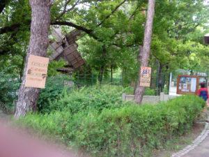 Pancarte in Herastrau